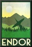 Endor Retro Travel Mounted Print