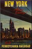 New York by Pennsylvania Railroad Mounted Print