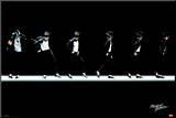 Michael Jackson–Moonwalk Reprodukce aplikovaná na dřevěnou desku