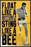 Muhammad Ali - Float like a Butterfly Mounted Print