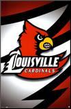 Louisville Cardinals- Logo Mounted Print