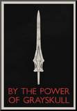 By The Power of Grayskull Retro Mounted Print