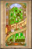 Minecraft Computronic Mounted Print