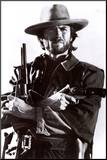 Clint Eastwood Mounted Print