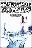 Radiohead Monteret tryk