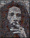 Bob Marley Mosaic Mounted Print