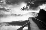 Walkway over the Lake Mounted Print