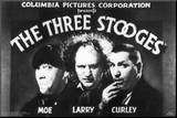 The Three Stooges Mounted Print