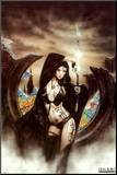 Stained Mounted Print by Luis Royo