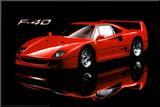 Ferrari F40 Mounted Print