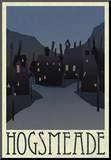 Hogsmeade Retro Travel Mounted Print