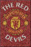 Manchester United - The Red Devils Mounted Print