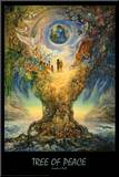 Tree Of Peace Mounted Print by Josephine Wall