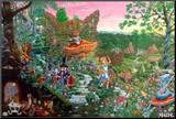 Wonderland Kunstdruk geperst op hout van Tom Masse