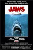Filmposter Jaws, 1975 Kunstdruk geperst op hout