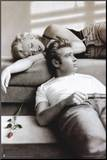 Marilyn Monroe and James Dean Mounted Print