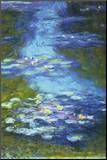Vattenliljor Print på trä av Claude Monet