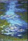 Water Lilies Mounted Print by Claude Monet