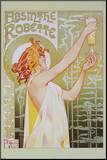 Absinthe Robette Mounted Print by Privat Livemont