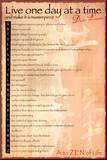 Levenswijsheden Dalai Lama, Engelse tekst: A to Zen life Kunstdruk geperst op hout