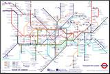 London Underground Map Mounted Print