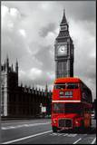 London - Red Bus Mounted Print