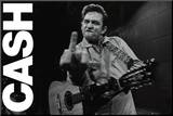 Johnny Cash- Folsom Prison Mounted Print