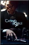 Filmposter aankondiging Casino Royale, Daniel Craig als James Bond, 2006 Kunst op hout
