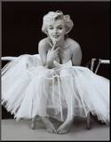 Marilyn Monroe Aufgezogener Druck von Milton H. Greene