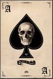 Ace of Spades Mounted Print