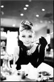 Audrey Hepburn Reprodukce aplikovaná na dřevěnou desku
