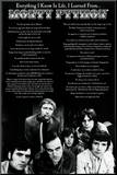 Monty Python - Everything I Know In Life Mounted Print