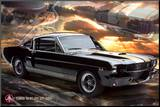 Ford Shelby - Mustang 66 GT 350 Mounted Print