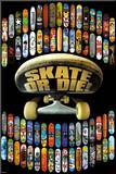 Skate or Die Mounted Print