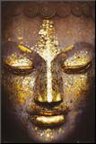 Buddha Reprodukce aplikovaná na dřevěnou desku