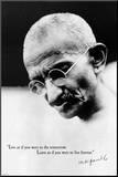 Gandhi Live Forever Mounted Print