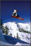 Snowboarder Mounted Print