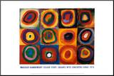 Farbstudie Quadrate, ca.1913 Kunst op hout van Wassily Kandinsky