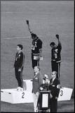 Black Power Salute Mounted Print
