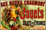 Zabawki, francuski Umocowany wydruk