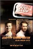 Fight Club Reprodukce aplikovaná na dřevěnou desku