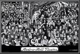 Rock & Roll Theatre Mounted Print by Howard Teman