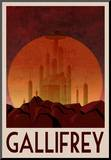 Gallifrey Retro Travel Poster Mounted Print