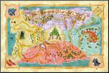 Marvelous Map of Oz Mounted Print