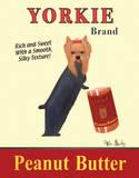 Yorkie Peanut Butter Plakaty autor Ken Bailey