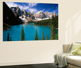 Wenkchemna Peaks Reflected in Moraine Lake, Banff National Park, Alberta, Canada Wall Mural by Adam Jones