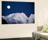 Full Moon over Snowcapped Mountain, North Cascades, Washington State, USA Wall Mural by Peter Skinner