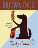 Brown Dog Tasty Cookies Poster by Ken Bailey