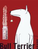 Reklama herbaty Bull Terrier, angielski Plakaty autor Ken Bailey