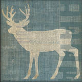 Lodge Deer Art by Stephanie Marrott